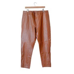 Custom Leather Pants in Copper
